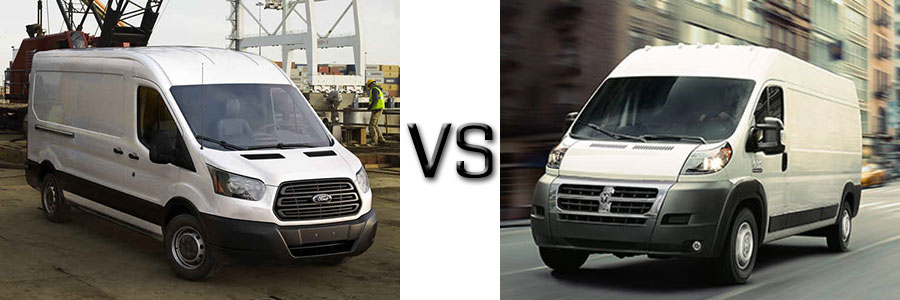 2016 Ford Transit Cargo Van Vs Ram Promaster
